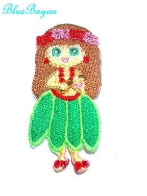 画像1: SALE!ハワイアン アイロン アップリケ ワッペン 刺繍 フラガール メール便OK ロコたんレッド