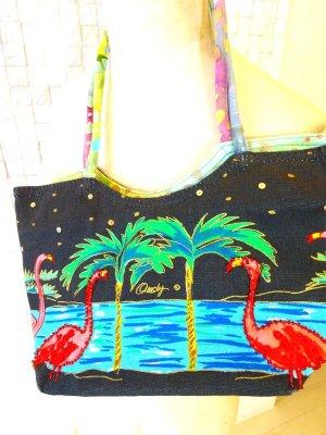 画像1: ハワイ輸入 Anne Ormsby フラミンゴ&パームツリー